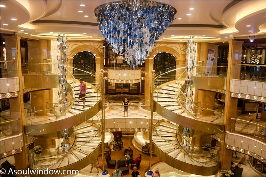 The Grand Interiors Of The Atrium. Majestic Princess, Princess Cruises
