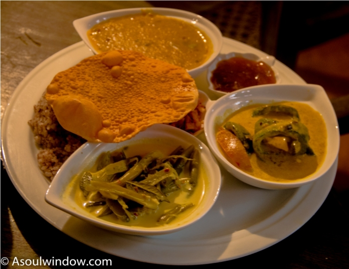 Curry and rice. India Sri Lanka Vegan Food