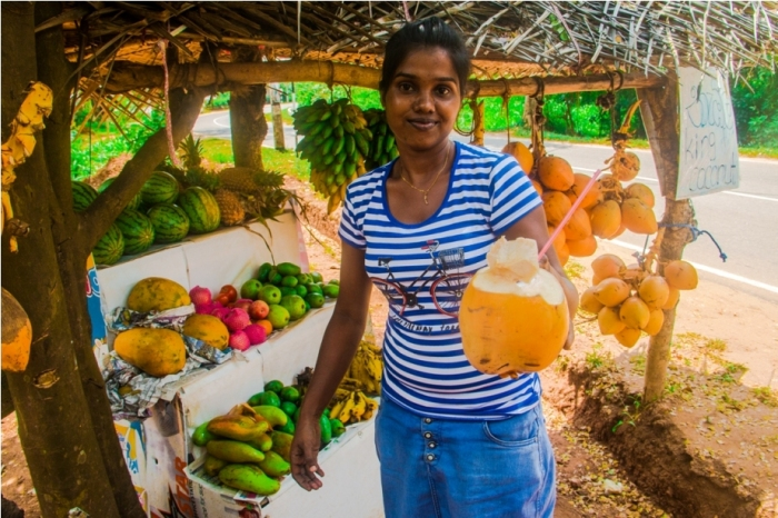 King coconut. India Sri Lanka Vegan Food
