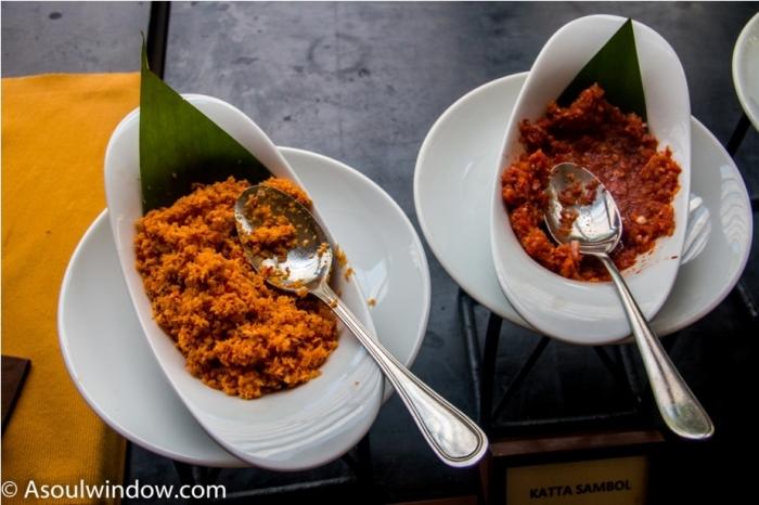 Pol sambol aka coconut sambol and Katta sambol. India Sri Lanka Vegan Food
