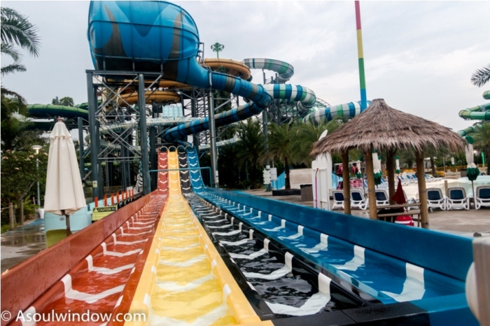 Rides. Cartoon Network Amazone Water Park, Pattaya Thailand