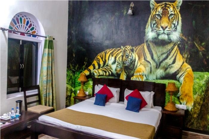 Ranthambore Heritage Haveli. Kumbha T34 Tiger safari, Ranthambore National Park, zone 6 Rajasthan, Incredible India (3)