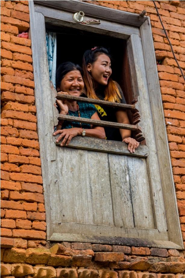 Children kids Khadga Devi Hindu Temple. Heritage area of Offbeat Bandipur, Nepal (2)