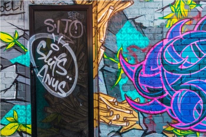 Dustbin Drugs Heroin Grafitti Street Art Hosier Lane Melbourne Australia China Town