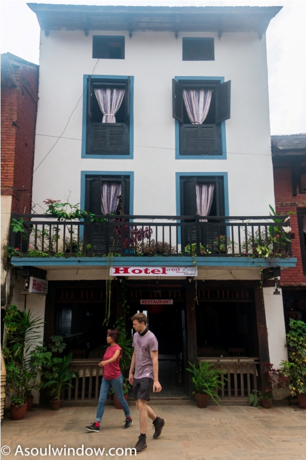 European at hotel. Heritage area of Offbeat Bandipur, Nepal