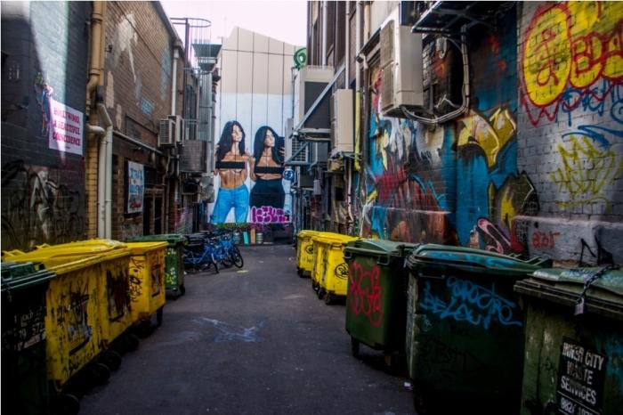 Grafitti Street Art Hosier Lane Melbourne Australia