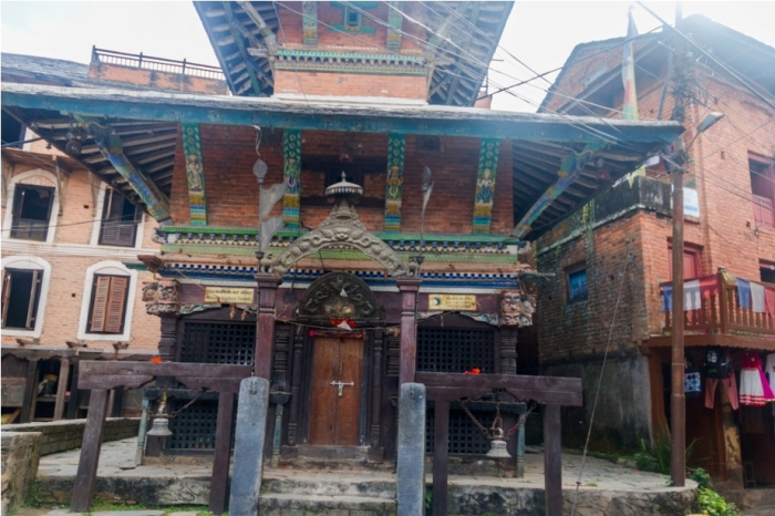 Hindu Temple. Heritage area of Offbeat Bandipur, Nepal
