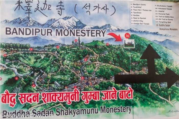 Map of Bandipur, Nepal