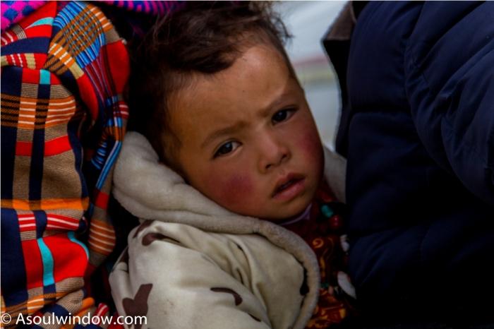 Child Taklakot Purang Burang China Tibet