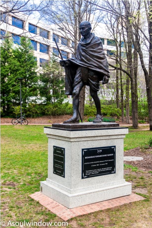 Glebe Park Mahatma Gandhi Statue Canberra Australia