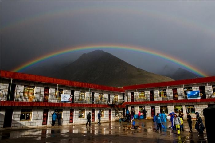 Rainbow Deraphuk Kailasha Mansarovar Parikrama China Tibet
