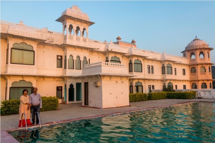 Justa Lake Nahargarh Palace, Chittorgarh Rajasthan India swimming pool (2)