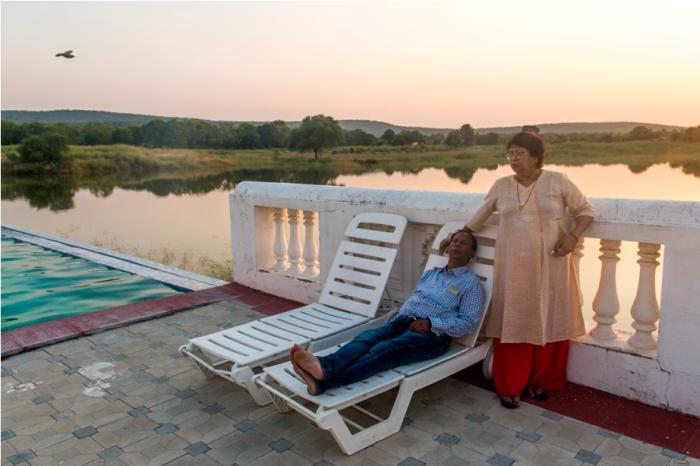Justa Lake Nahargarh Palace, Chittorgarh Rajasthan India Swimming pool