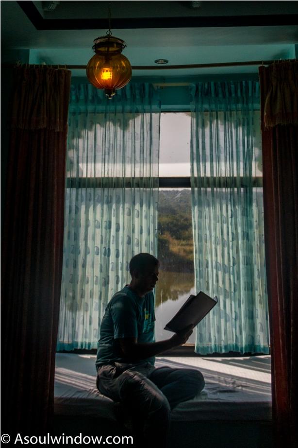 Justa Lake Nahargarh Palace, Chittorgarh Rajasthan India window