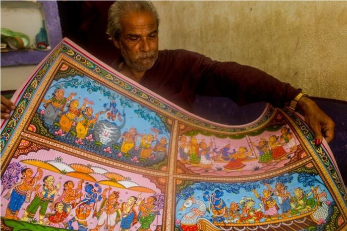 Gangadhar Nayak Raghurajpur Heritage Village Pattachitra Puri Odisha (14)