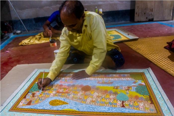 Raghurajpur Heritage Village Pattachitra Puri Odisha gangadhar maharana National award (4)