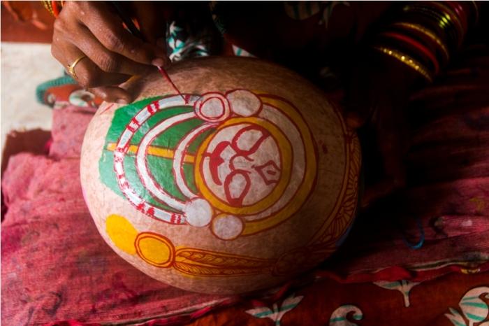 Raghurajpur Heritage Village talpattachitra Puri Odisha coconut art