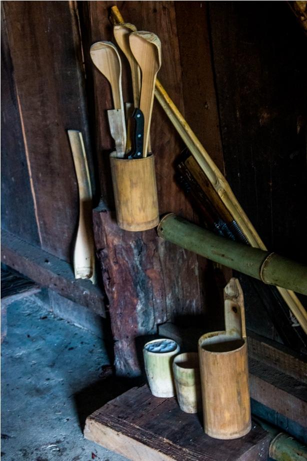 Angami Morung bamboo mugs Hornbill festival Nagaland India