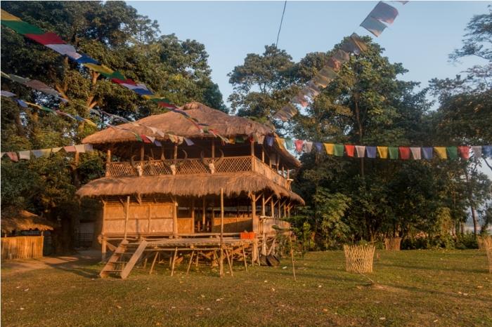 Bamboo Hut Orange music festival Dambuk Arunachal Pradesh India