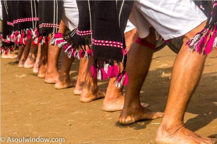 Basar Confluence Bas Con Arunachal Pradesh India Naga Warrior Dance