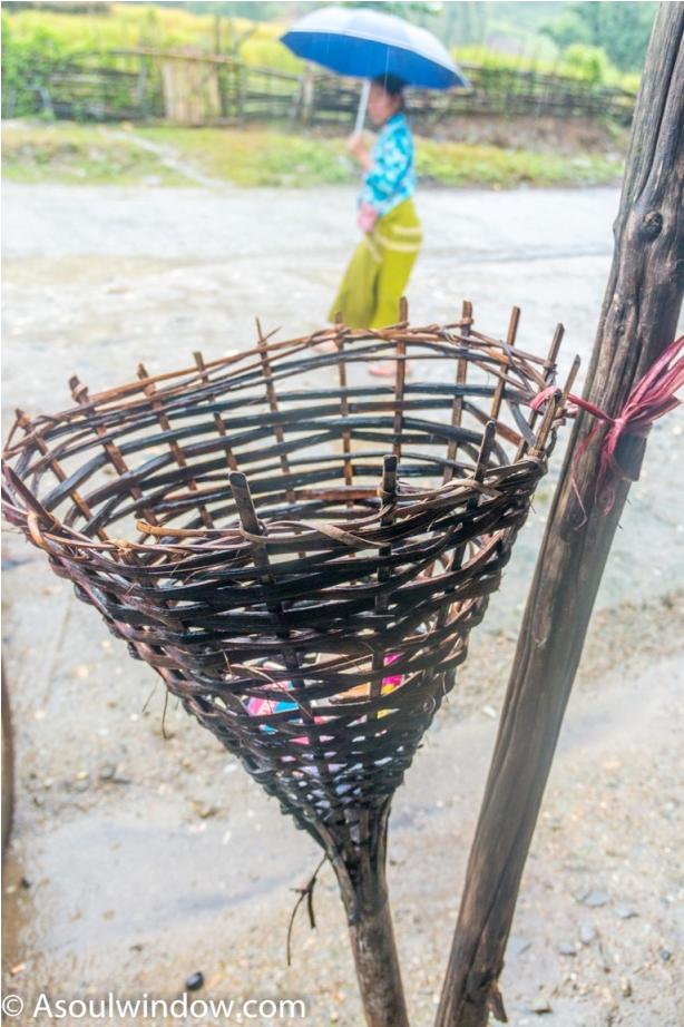 Basar Confluence Bas Con Arunachal Pradesh India bamboo dustbin
