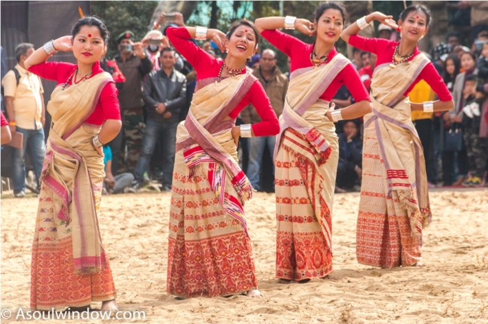 Hornbill festival Nagaland India Bihu Dance from Assam