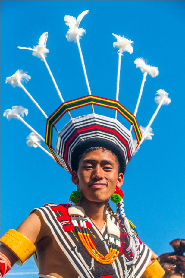 Hornbill festival Nagaland India Tribal man