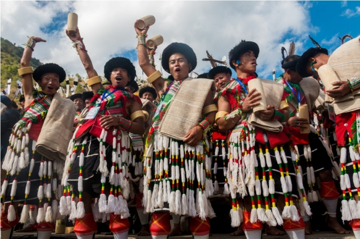 Hornbill festival Nagaland India Tribal people