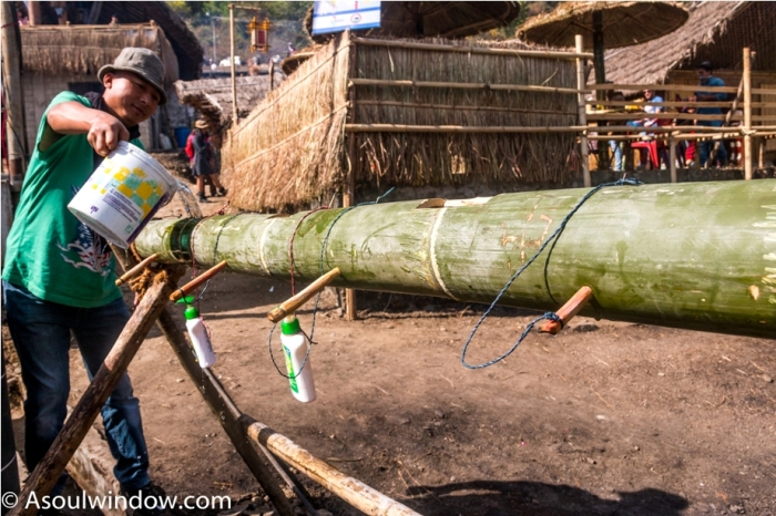 Hornbill festival Nagaland India bamboo wash basin