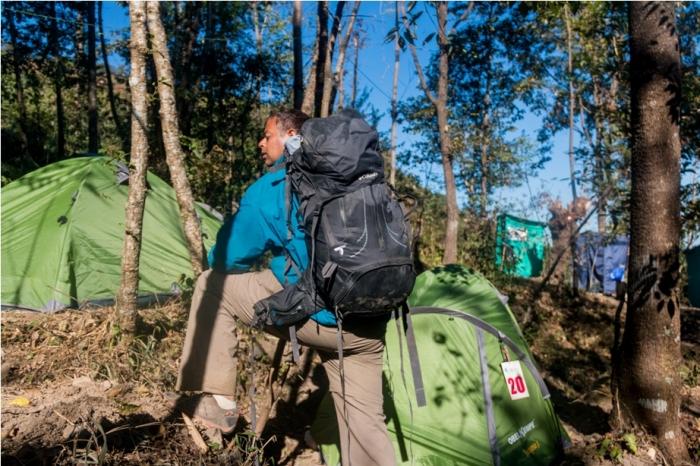 Hornbill festival Nagaland India camp site tent