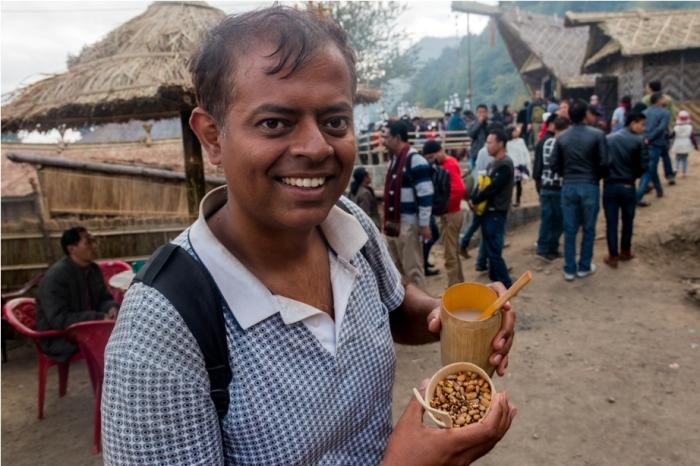 Hornbill festival Nagaland India millet rice beer