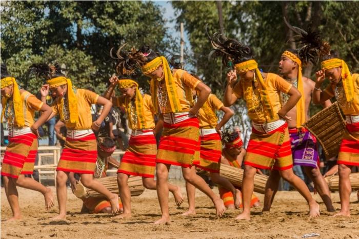 Hornbill festival Nagaland India wangla dance garo tribe (2)