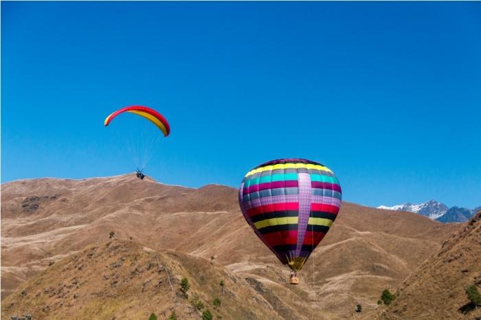 Hot air balloon paragliding Adventure At Mechuka Arunachal Pradesh India