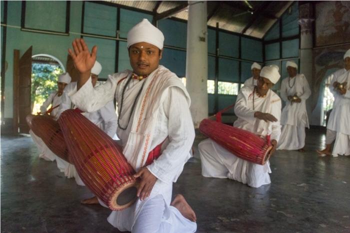 Kamalabari Satra Sattriya Dance Majuli River Island Assam India