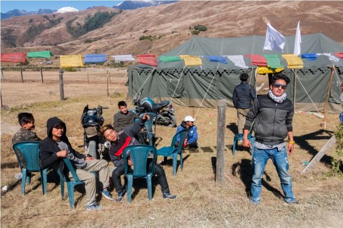 Local tent Adventure At Mechuka Arunachal Pradesh India