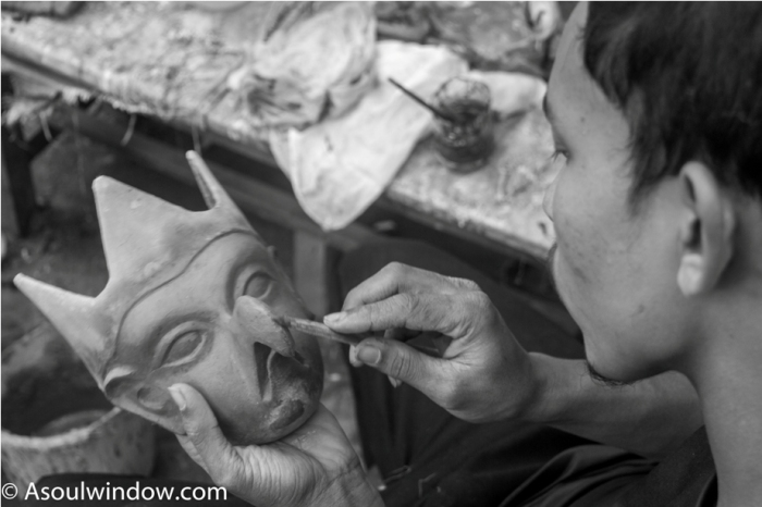 Mask Making Majuli River Island Assam India