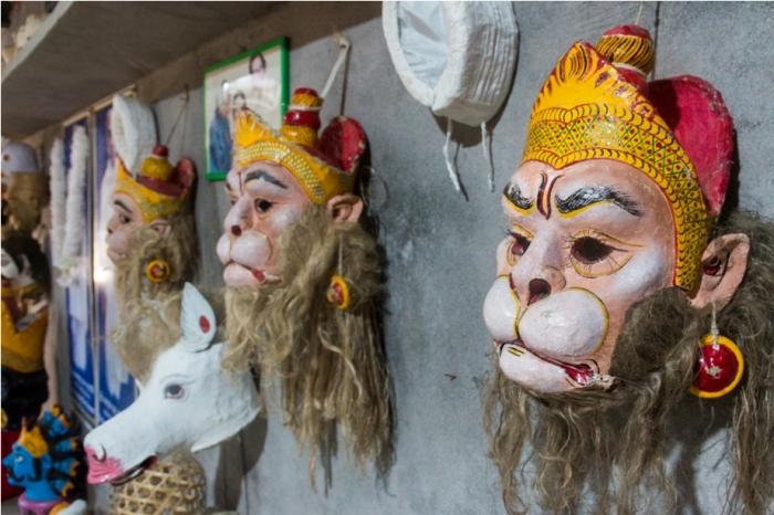 Mask Making Majuli River Island Assam India (2)