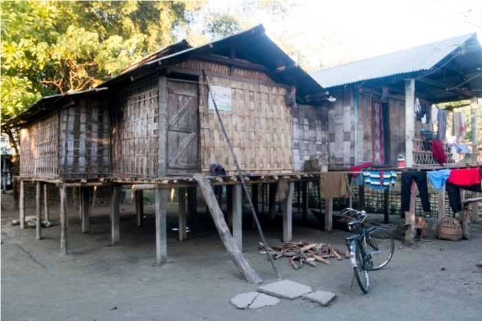 Mishing Village Bamboo Homestay Majuli River Island Assam India