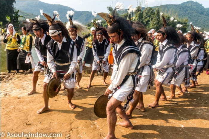 Naga Warrior Dance Basar Confluence Bas Con Arunachal Pradesh India