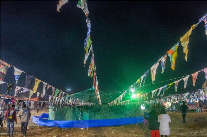 Night Orange music festival Dambuk Arunachal Pradesh India