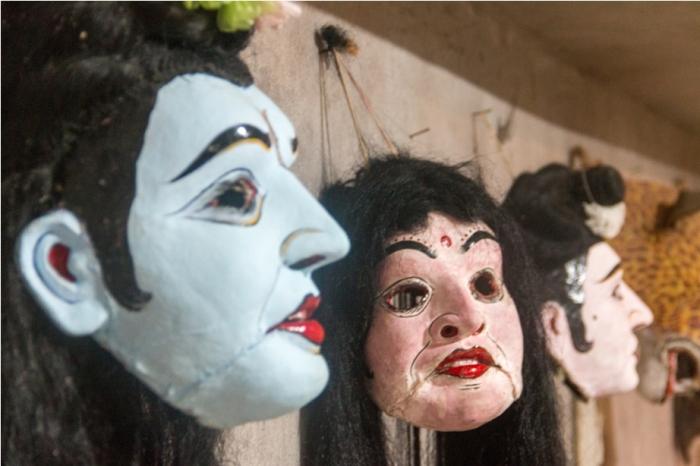 Ramayan Mask Making Majuli River Island Assam India