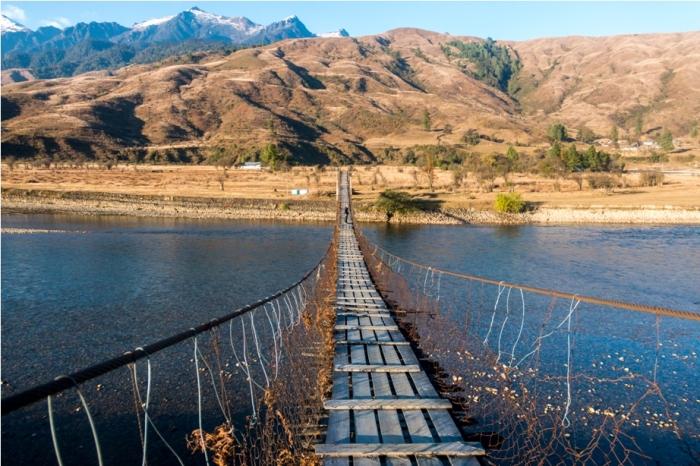 Root Bridge Adventure At Mechuka Arunachal Pradesh India