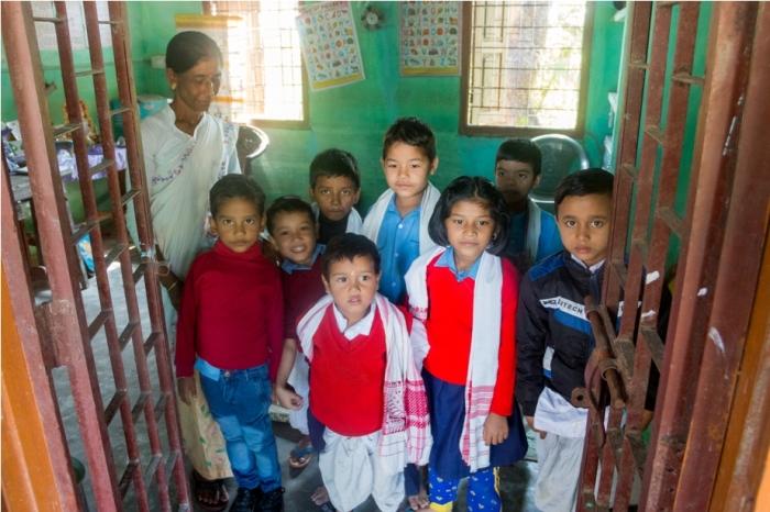 School Mishing Village Bamboo Homestay Majuli River Island Assam India (2)