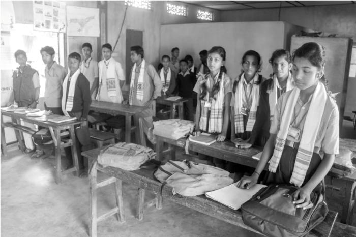 School Mishing Village Bamboo Homestay Majuli River Island Assam India
