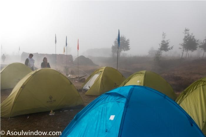 Tent Mist Adventure At Mechuka Arunachal Pradesh India
