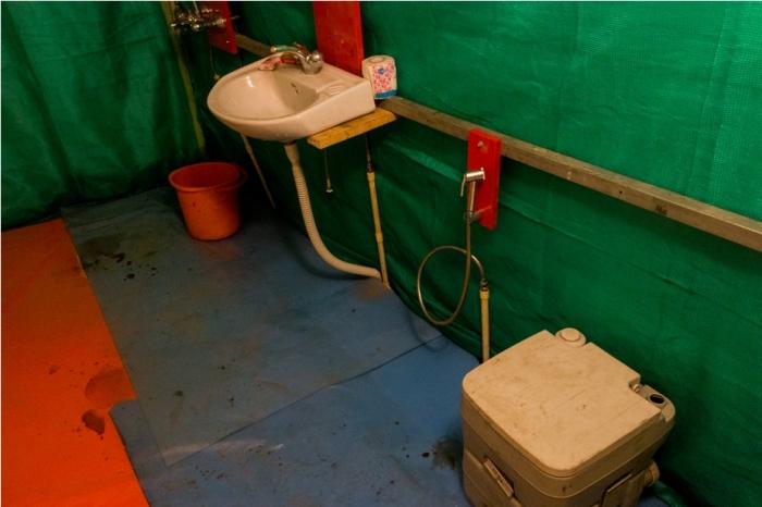 Toilet Orange music festival Dambuk Arunachal Pradesh India