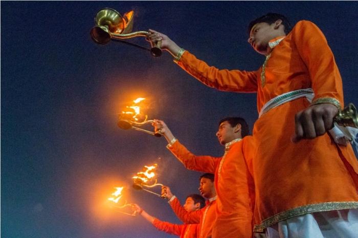 Ganga Aarti Ardhkumbh Mahakumbh Magh Kumbh Mela Prayagraj Uttar Pradesh (2)