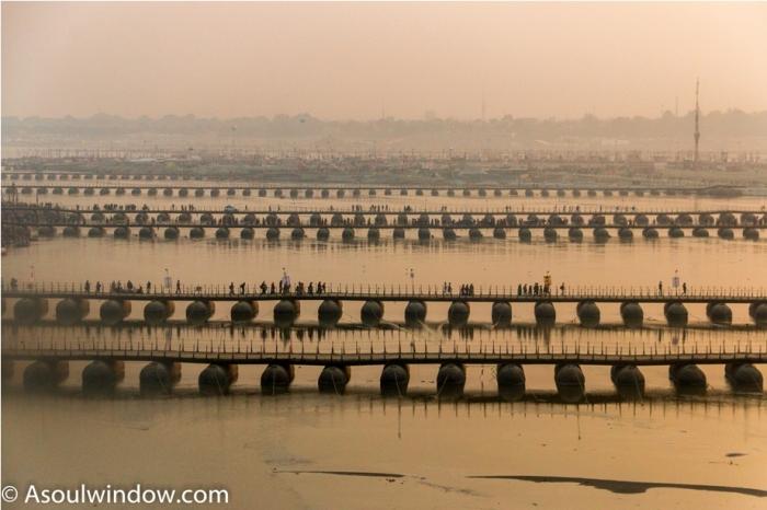Pontoon Bridge Ardhkumbh Mahakumbh Magh Kumbh Mela Prayagraj Uttar Pradesh (1)