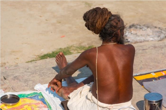 Shri Ram Janmbhoomi Ayodhya Diwali Sarayu river ghat Sadhu