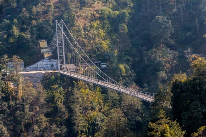 Uttaray Singshore suspension bridge Sikkim North East India (9)